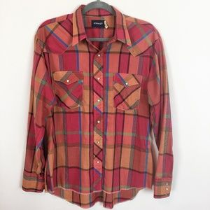 Wrangler Western Plaid Pearl Snap L/S Shirt